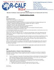2000-2012 Approved Membership Policy - R-Calf