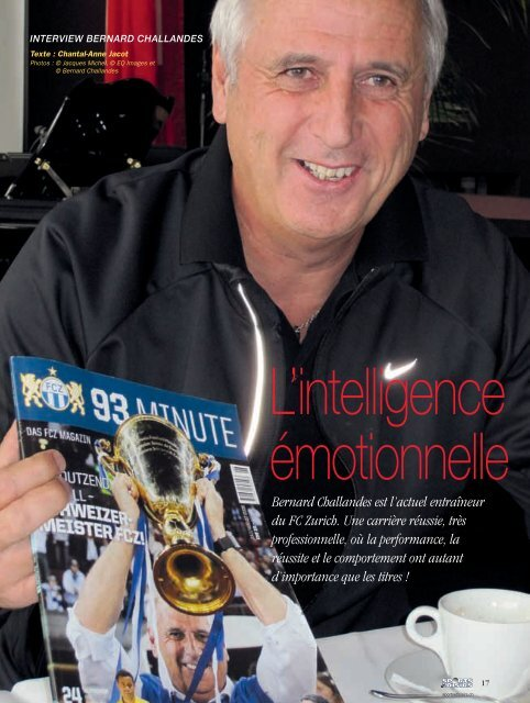 Bernard Challandes - Magazine Sports et Loisirs