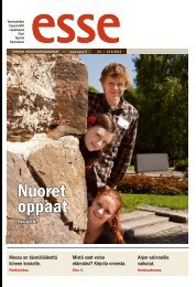 Esse 24/2012 (pdf) - Espoon seurakuntasanomat