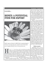 HONEY: A POTENTIAL ITEM FOR EXPORT