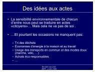 Des idées aux actes