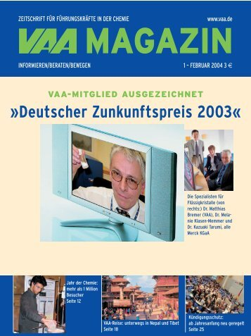 VAA Magazine Januar 2004 - German Scholars Organization