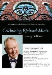 Celebrating Richard Mintz - The Vilna Shul