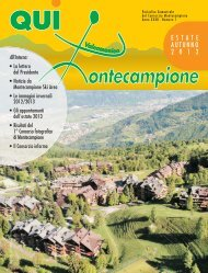 qui montecampione n°1 estate-autunno 2013 [5,3 M] - Consorzio di ...