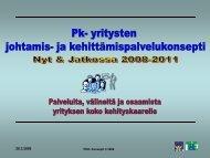 Pk- yritysten johtamis - Oamk