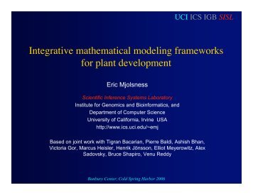 The Computable Plant - University of California, Irvine