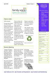 Newsletter Vol.3 Issue 2 April 2012 - Family Voice Peterborough