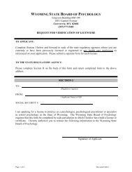 Request for Verification of Licensure - Professional