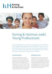 Koning & Hartman zoekt Young Professionals