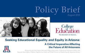 Seeking Educational Equality and Equity in Arizona - College of ...