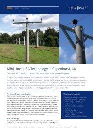 Mini Line at EA Technology in Capenhurst, UK - Europoles