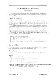 TD 2 : Structures de données