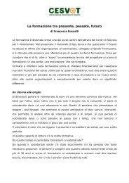Un contributo per la riflessione [Pdf - 63 KB] - Cesvot