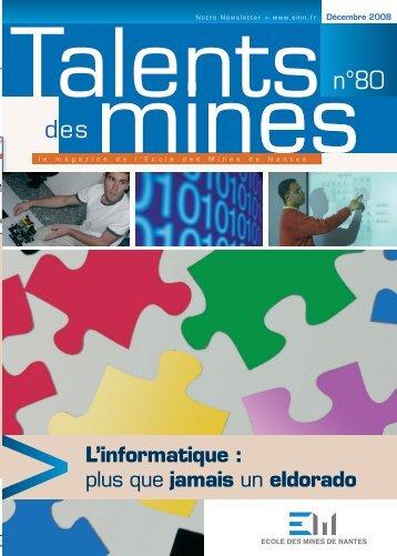 L'informatique - Ecole des mines de Nantes
