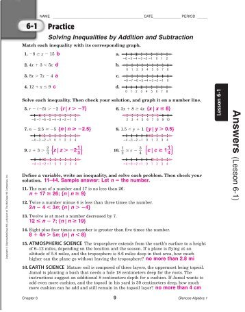 glencoe algebra 1 chapter 7 test form 1 answers algebra 1 test practice glencoe worksheets for. Black Bedroom Furniture Sets. Home Design Ideas