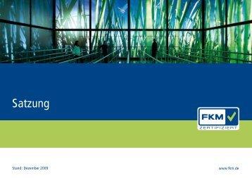 FKM Satzung