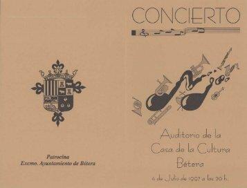 programa - Centre Artístic Musical de Bétera