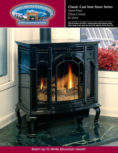 Classic Cast Iron Stove Series Empire Gas Space Heater