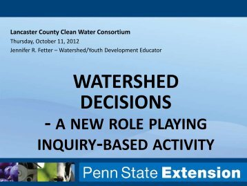 A New Role Playing Inquiry-based Activity - Lancaster County Clean ...