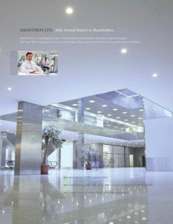 SMARTPROS LTD. 2010 Annual Report to Shareholders