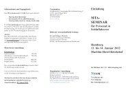 Programm Flyer - Norddeutsche Vereinigung für Schlafmedizin eV