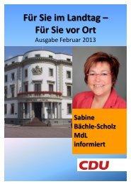 Ausgabe - Februar 2013 - Sabine Bächle-Scholz