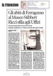 Gli abiti di Ferragamo al Museo Stibbert Ricci sfila agli Uffizi