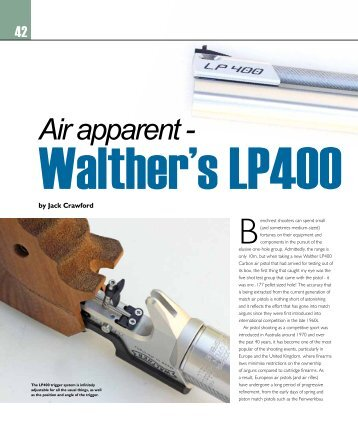 Air apparent - Walther's LP400 Carbon - Frontier Arms