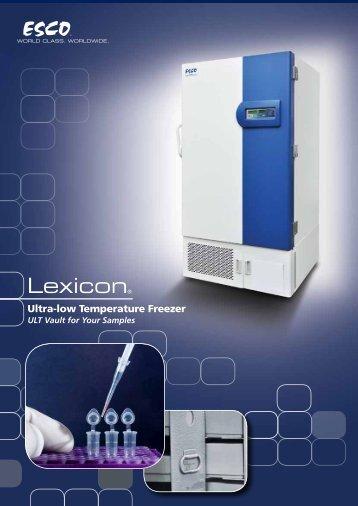 Ultra-low Temperature Freezer - Esco