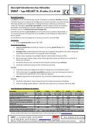 Descriptif Aérothermes Gaz Hélicoïdes EMAT - Type HELIJET H..A ...