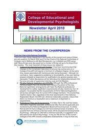 CEDP Newsletter March 2010 - APS Member Groups - Australian ...