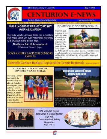 CENTURION E-NEWS - Christian Academy School System