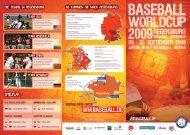 Flyer - Baseball WM 2009