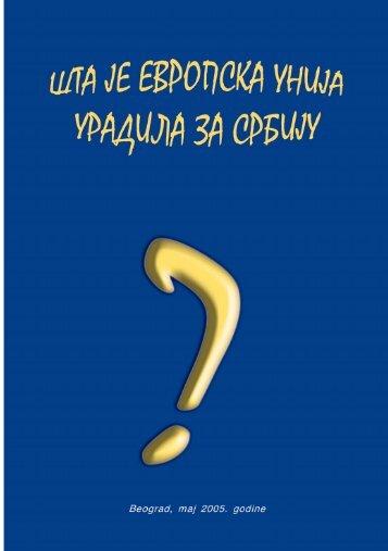 Preuzmite PDF / 257KB - Evropski pokret u Srbiji