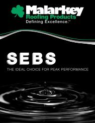 SEBS Brochure - Malarkey Roofing Products