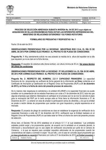 Formulario Tndn 02 Registro De Firmas Entidad Ministerio De