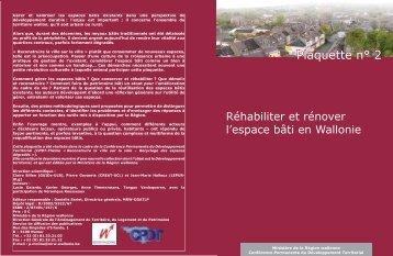 Plaquette n° 2 - CPDT Wallonie