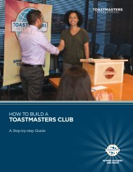 How to Build a Toastmasters Club - Toastmasters International