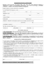 modulo dichiarazione sostitutiva per nomine - Provincia di Treviso