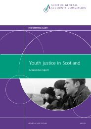 Youth justice in Scotland (PDF | 243 KB) - Audit Scotland
