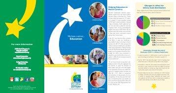 FY '11 Beneficiary Brochure - North Carolina Education Lottery