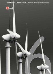 Relatório e Contas 2006 Caderno de Sustentabilidade - EDP