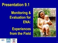 9.1: Monitoring and evaluation - Linkages Project