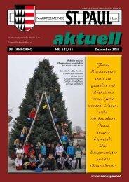 Gemeindezeitung Dezember 2011 - Marktgemeinde Sankt Paul im ...
