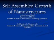Self assemble growth of nanowires