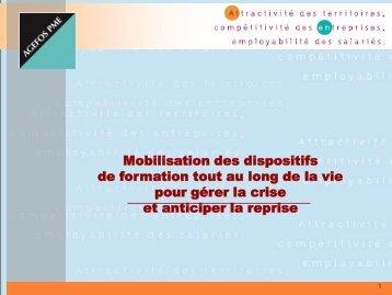 Mobilisation des dispositifs de formation tout au long de la vie pour ...