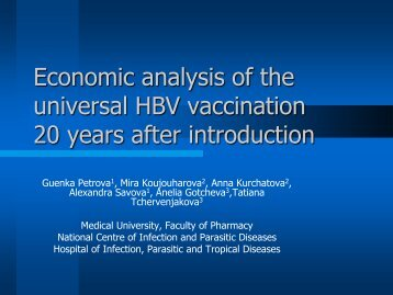 Economic analysis of the universal HBV vaccination 20 years after ...