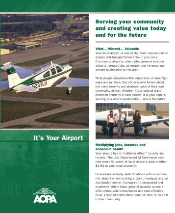 It's Your Airport - Aircraft Owners and Pilots Association