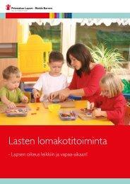 Lasten lomakotitoiminta - Pelastakaa Lapset ry