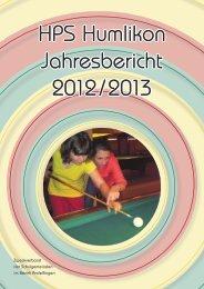 Jahresbericht 2012/2013 - bei der HPS Humlikon